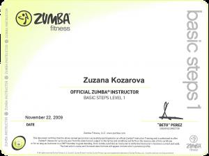 Zumba Basic certificate